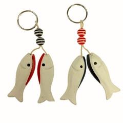 27698 Schlüsselanhänger Fisch Holz