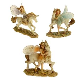 27859  Elfe auf Pferd 7cm 3 sortiert