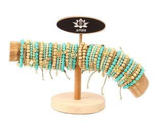 28024 96 Armbänder türkis/goldfarben
