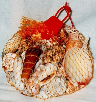 29427  Muschelnetz groß 350g Netz rot