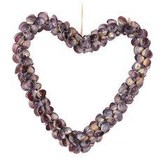 29465 Muschel Herz -Purple Caycay-