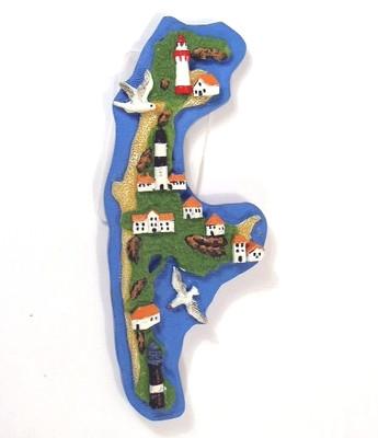 30372 Magnet Insel Sylt,bunt, 7cm