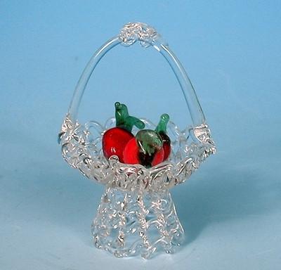 31000 Korb mit Früchten aus Glas,6s.