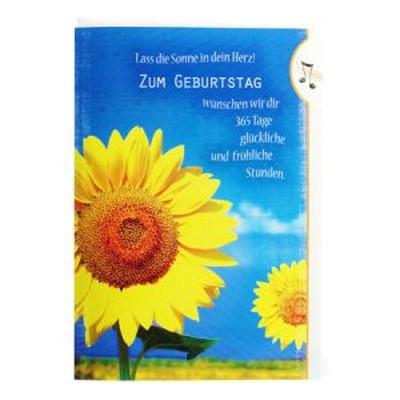 31564  Musikklappkarte SONNENBLUME