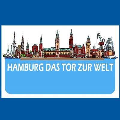 31757  Brotbrett Hamburg Skyline