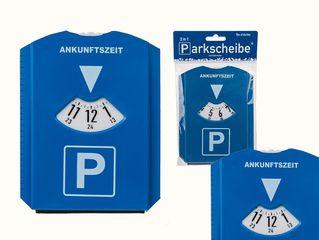 31836  Kunststoff-Parkscheibe, 2-in-1