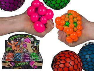 34303 Squeeze-Ball im Netz, ca. 7 cm