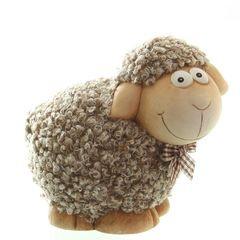 35116 Schaf mit Plüschfell, braun,