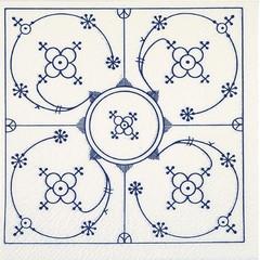 40599 Serviette Indisch Blau 20Blatt