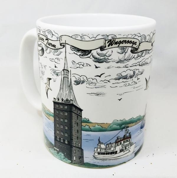 40717  Becher Leuchtturm Wangerooge