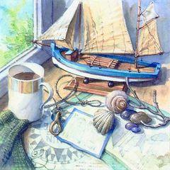 42616 Servietten Maritime Setting
