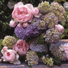 42629 Servietten Hortensias y Rosas