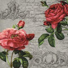 42630 Servietten Deux Roses Classiqu
