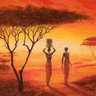 42700 Servietten ,Afrik.Sonnenauf-