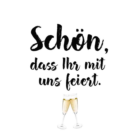 42821 Serviette Schön Feiern 33cm