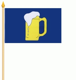 60131  Stockflagge BIER 30x45cm