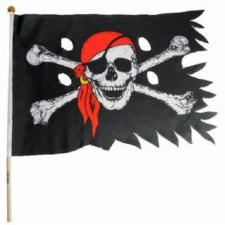 60181  Stockflagge PIRAT verschlissen