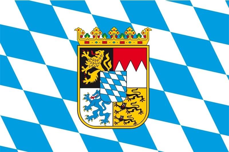 60510 Hißflagge Bayern m Wappen60x90