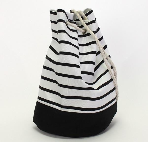 62206 Seesack,weiß/schwarz gestreift