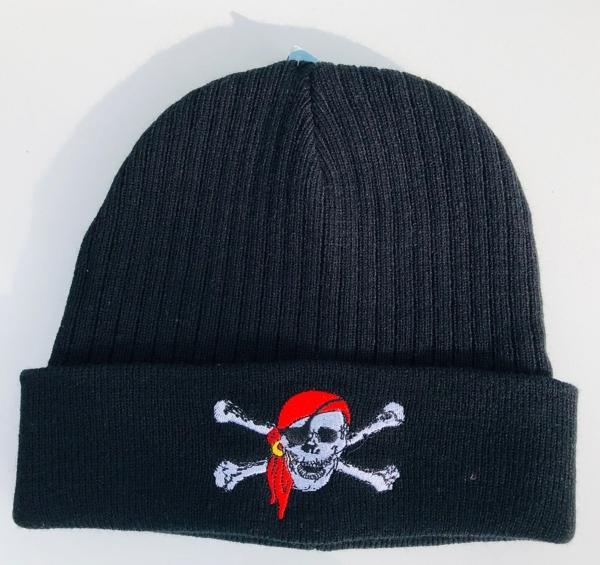63085 Strickmütze Parka Piratenkopf