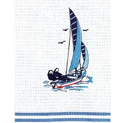69300 Pique-Geschirrtuch Segelschiff