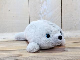 77418 Plüsch Seehund Grau