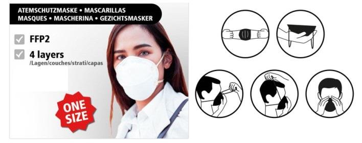 Mund-Atem-Schutzmaske Lieferbar ab KW 16/2020